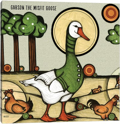 Garson The Misfit Goose Canvas Art Print