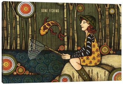 Gone Fishing Canvas Art Print