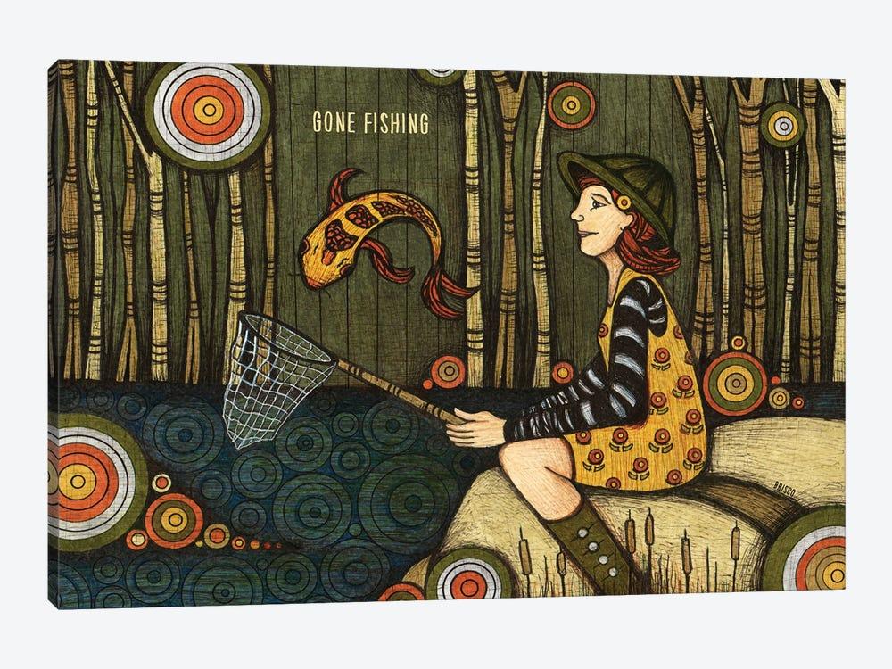 Gone Fishing by Bridgett Scott 1-piece Art Print