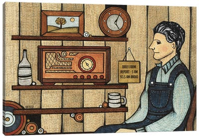 Radio Days Canvas Art Print