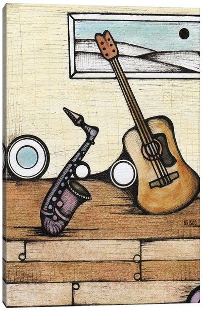 A Sax And An Axe Canvas Art Print