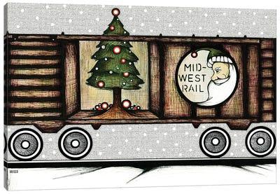 The Christmas Train Canvas Art Print