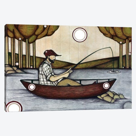 The Fishing Spot Canvas Print #BGT22} by Bridgett Scott Canvas Art