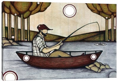 The Fishing Spot Canvas Art Print