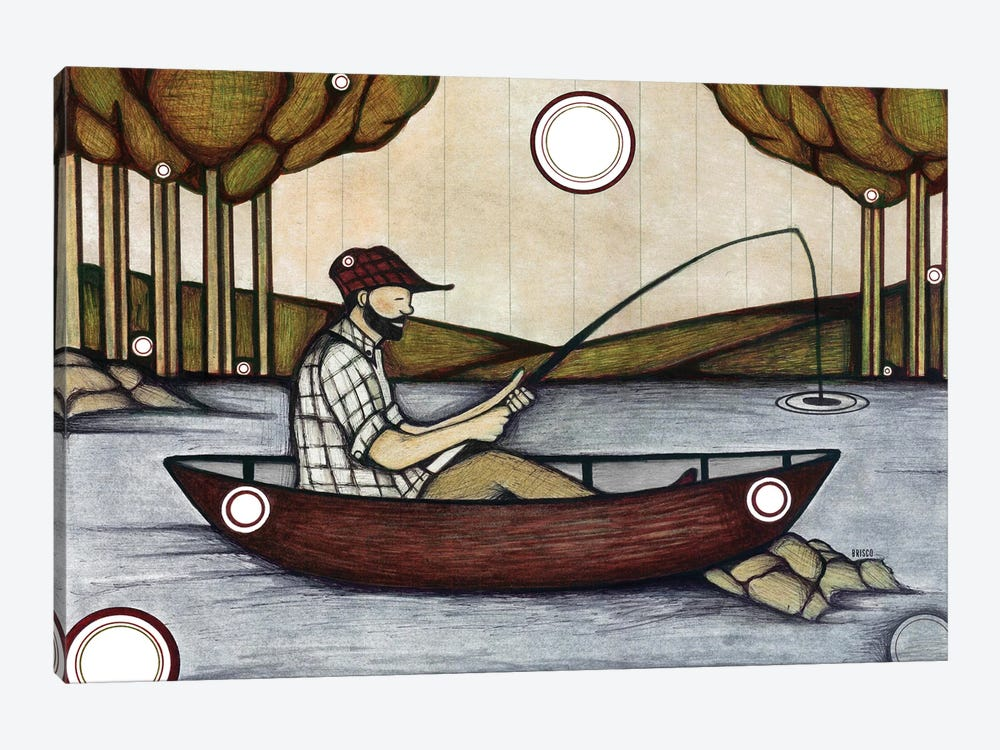 The Fishing Spot by Bridgett Scott 1-piece Canvas Artwork