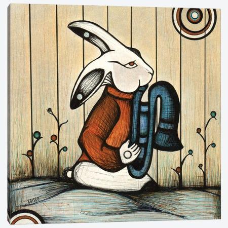 The Horn Player Canvas Print #BGT25} by Bridgett Scott Canvas Art Print