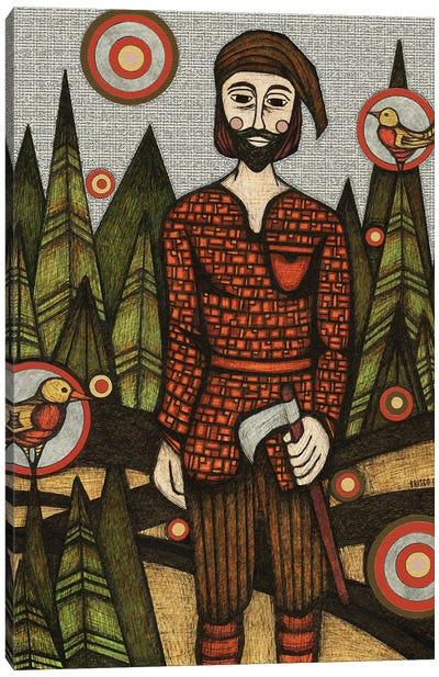 The Woodsman Canvas Art Print