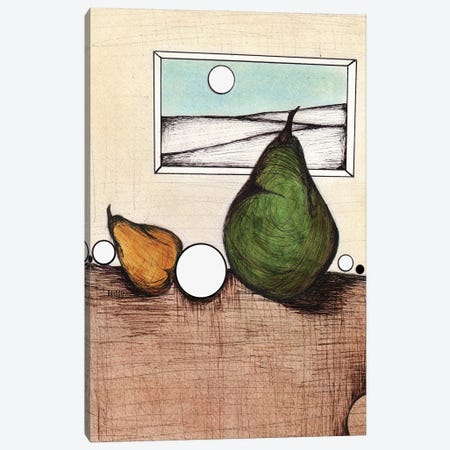 An Unlikely Pear Canvas Print #BGT5} by Bridgett Scott Canvas Art Print