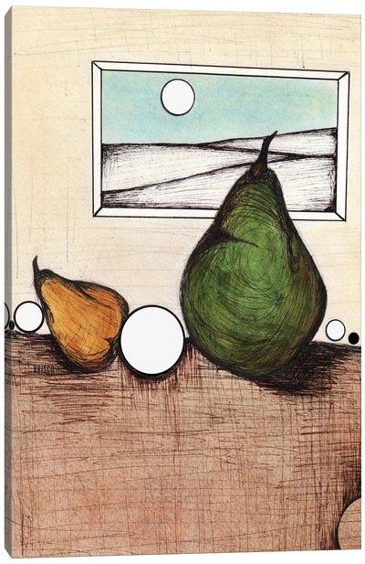 An Unlikely Pear Canvas Art Print