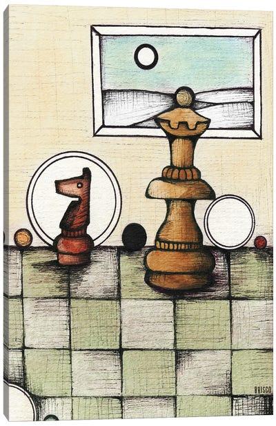 Chess Mates Canvas Art Print