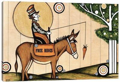 Donkey Rides Canvas Art Print