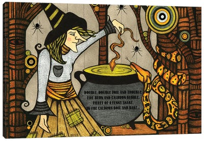 Double, Double Toil And Trouble Canvas Art Print
