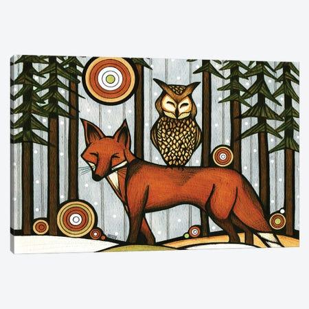 Forest Friends II Canvas Print #BGT9} by Bridgett Scott Canvas Art