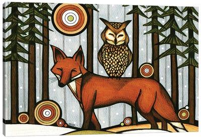 Forest Friends II Canvas Art Print