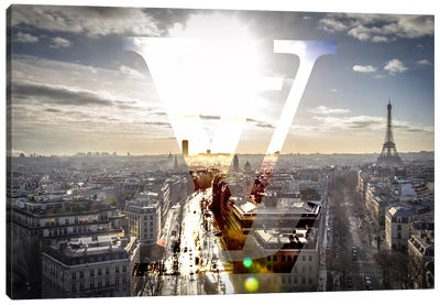 Sunrays In Paris Canvas Art Print