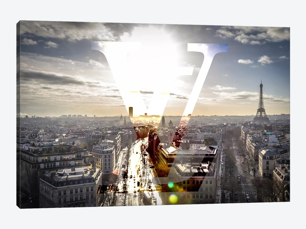Sunrays In Paris by 5by5collective 1-piece Canvas Artwork