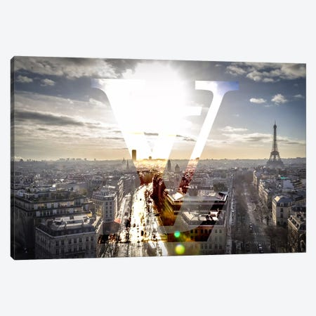 Sunrays In Paris Canvas Print #BGY10} by 5by5collective Canvas Art