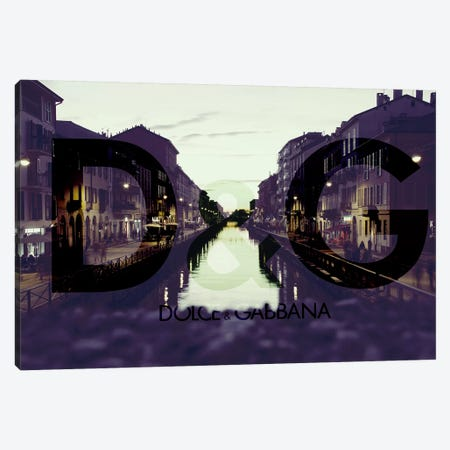Paint The Town Purple Canvas Print #BGY7} by 5by5collective Canvas Artwork