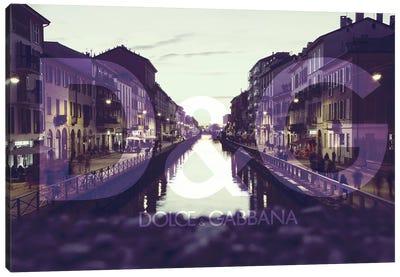 Purple Lights Canvas Art Print
