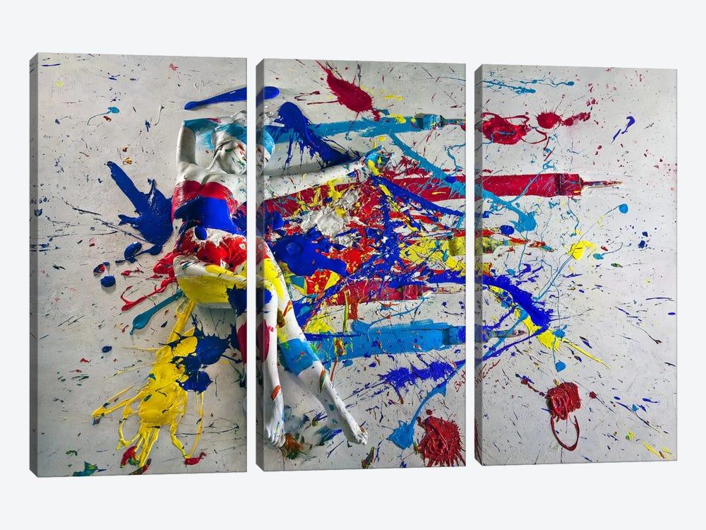 Caroline Madison III by Ben Heine 3-piece Canvas Wall Art