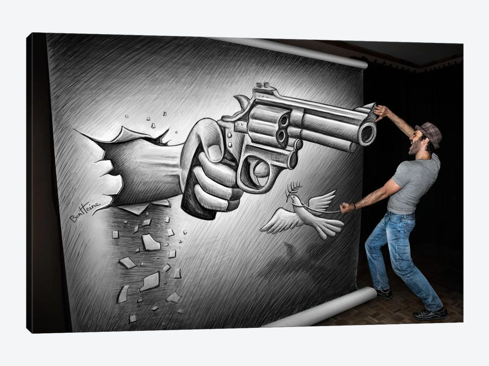 Pencil vs. Camera - 72 by Ben Heine 1-piece Canvas Art