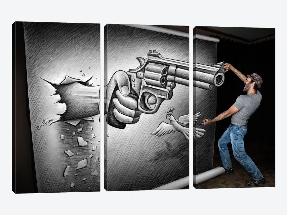 Pencil vs. Camera - 72 by Ben Heine 3-piece Canvas Wall Art