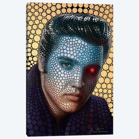 Elvis Presley Canvas Print #BHE103} by Ben Heine Canvas Artwork