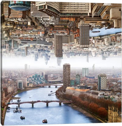 London - Double Landscape Canvas Print #BHE106