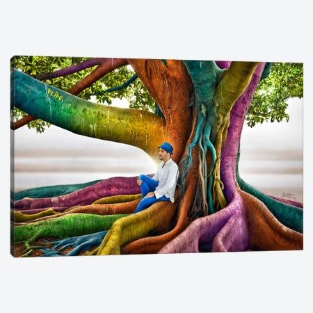 Just Dreaming 3-Piece Canvas #BHE107} by Ben Heine Canvas Print