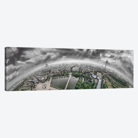 Cologne Panorama 360 degrees Canvas Print #BHE109} by Ben Heine Canvas Wall Art