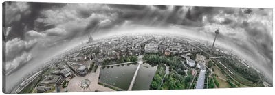 Cologne Panorama 360 degrees Canvas Art Print