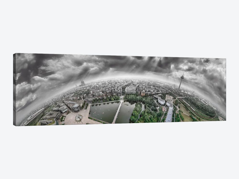 Cologne Panorama 360 degrees by Ben Heine 1-piece Canvas Print