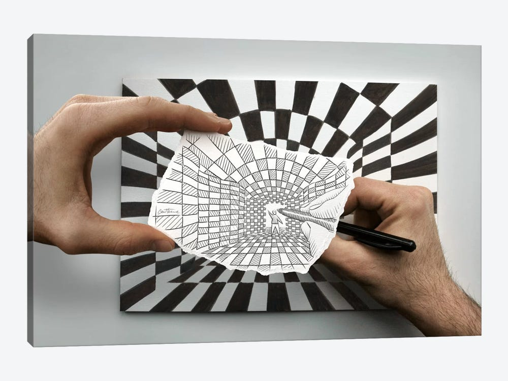 Pencil vs. Camera 17 by Ben Heine 1-piece Canvas Art