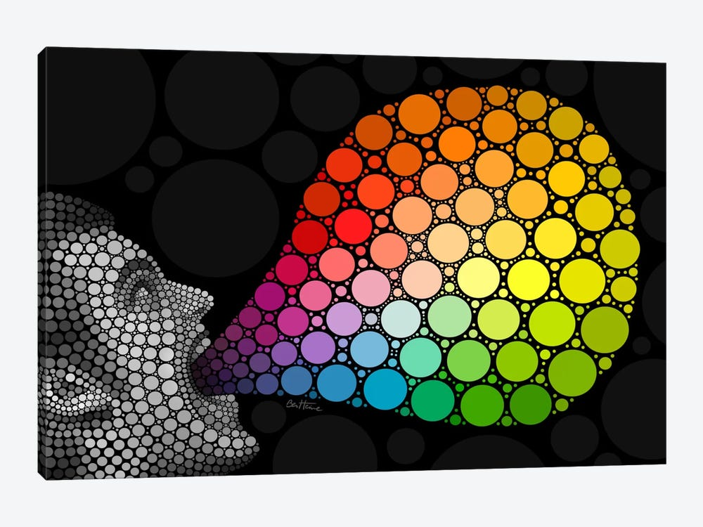 Digital Circlism Series: Give Me Colors by Ben Heine 1-piece Canvas Art Print