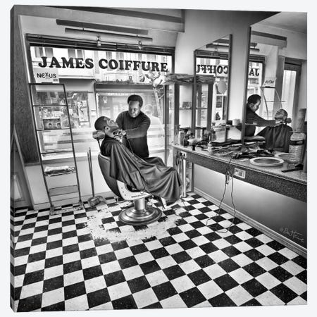 James - Hairdresser Canvas Print #BHE119} by Ben Heine Canvas Art Print