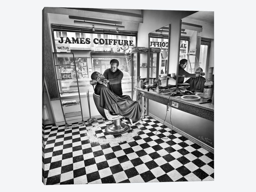 James - Hairdresser by Ben Heine 1-piece Canvas Wall Art