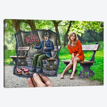 Pencil vs. Camera - 68 Canvas Print #BHE121} by Ben Heine Canvas Wall Art