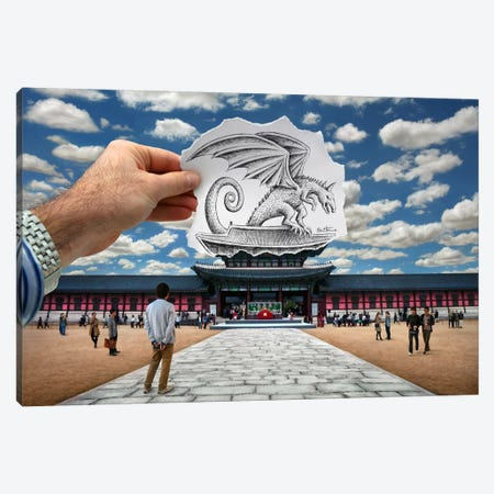 Pencil vs. Camera - 76 Canvas Print #BHE127} by Ben Heine Art Print