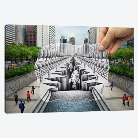 Pencil vs. Camera - 77 Canvas Print #BHE128} by Ben Heine Canvas Artwork