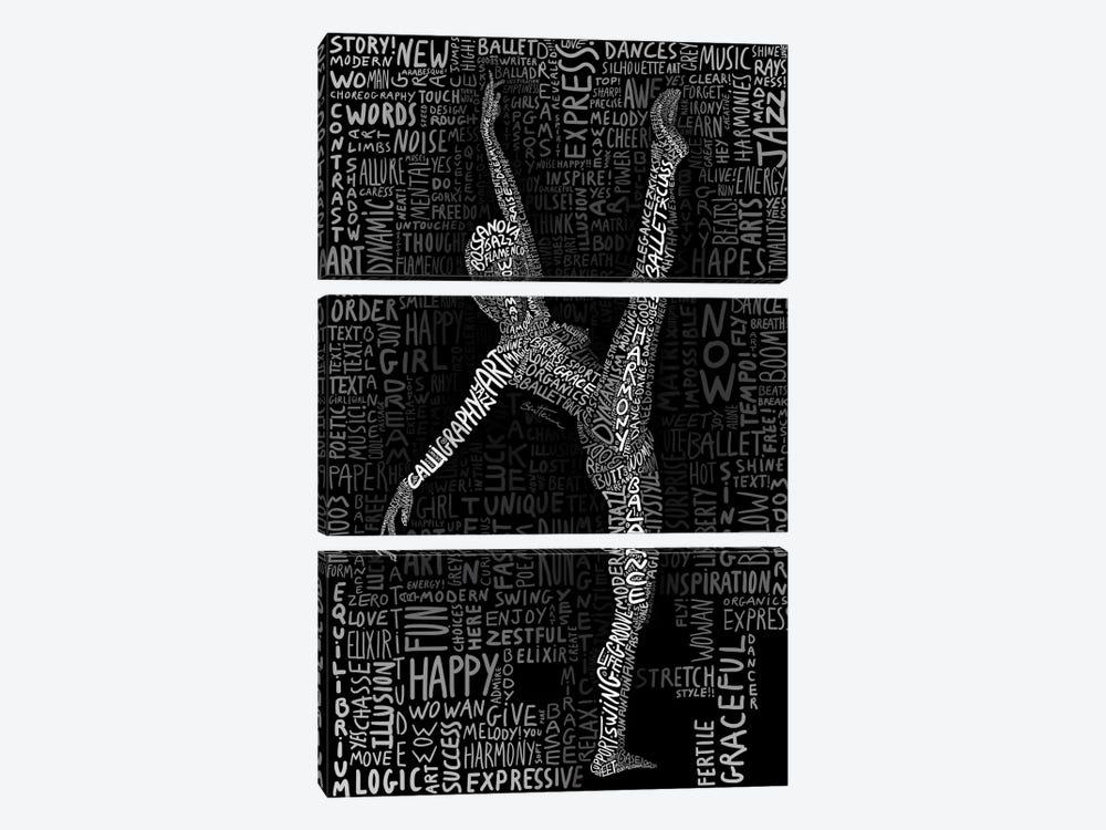 Dancer by Ben Heine 3-piece Canvas Print