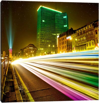 Brussels By Night Canvas Art Print