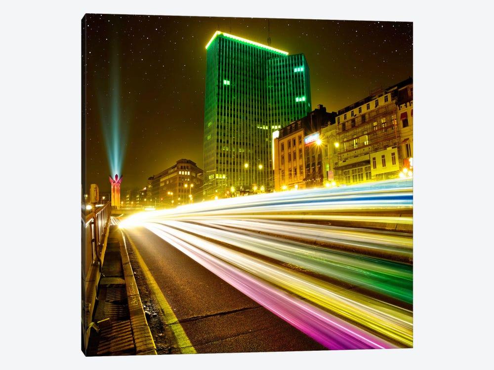 Brussels By Night by Ben Heine 1-piece Canvas Artwork