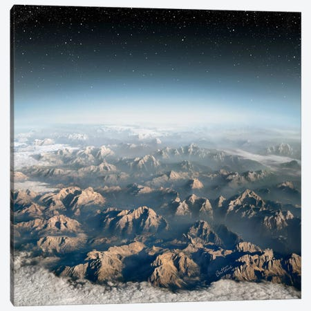 Planet Earth Canvas Print #BHE141} by Ben Heine Canvas Wall Art