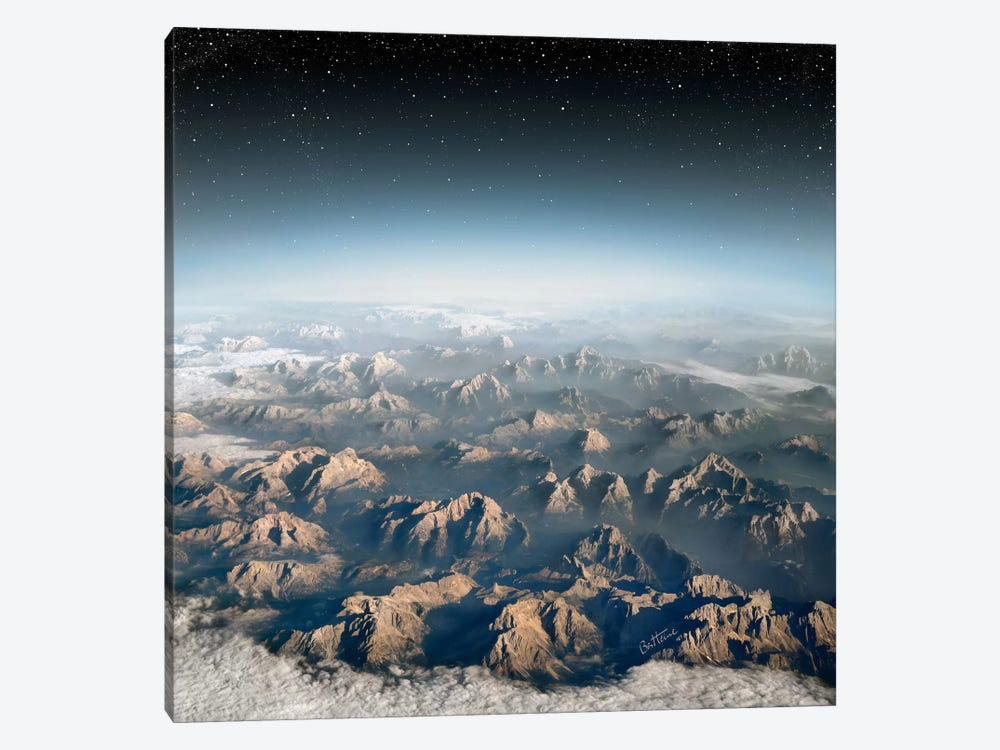 Planet Earth 1-piece Canvas Print