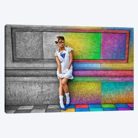 In A Rainbow City Canvas Print #BHE142} by Ben Heine Canvas Art