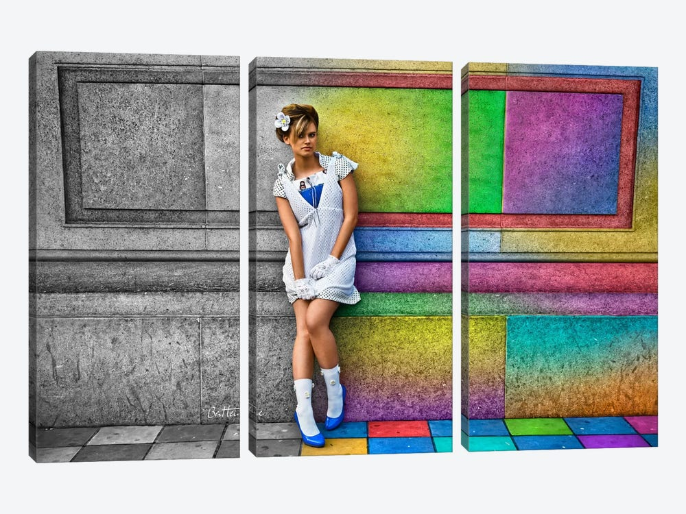 In A Rainbow City by Ben Heine 3-piece Canvas Art