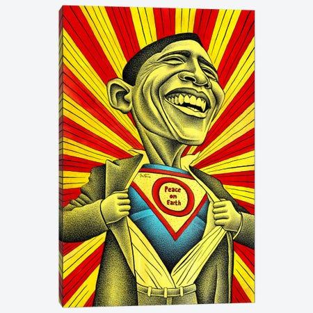 Obama vs. The Fear Canvas Print #BHE148} by Ben Heine Canvas Artwork