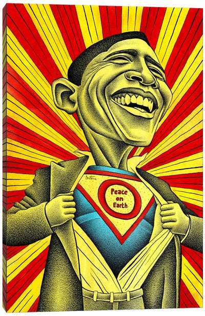 Obama vs. The Fear Canvas Art Print