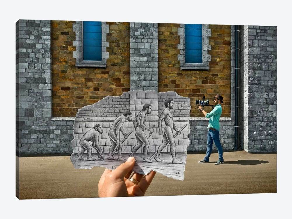 Pencil vs. Camera - 55 by Ben Heine 1-piece Canvas Art Print