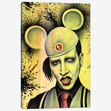 Marilyn Manson II Canvas Print #BHE160} by Ben Heine Canvas Wall Art